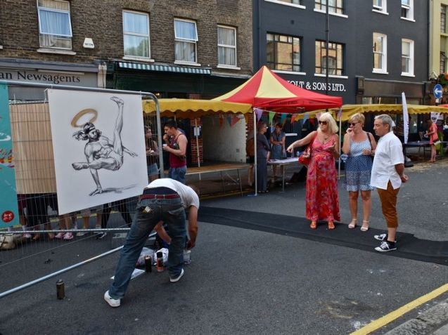 Whitecross Street Party 2015 Cosmo Sarcen