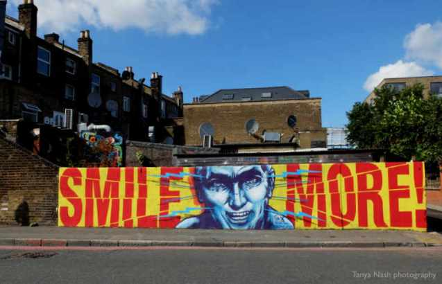 Sr X wall in Dalston for BSMT Space solo show Pork Loin